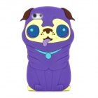 Cute 3D Dog Style Protective Silicone Back Case for Iphone 5 - Purple
