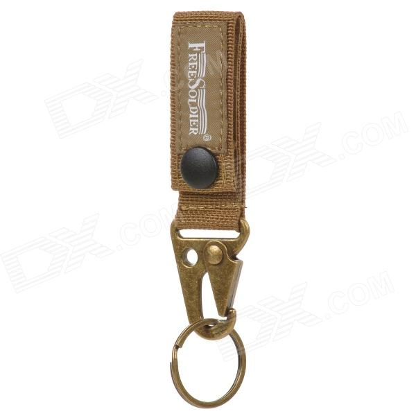 Free Soldier Outdoor Mulifunctional Keychain - Brown