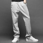Men's Leisure Casual Cotton Pants Trousers - Grey (Size L)