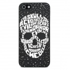 Glow-in-the-Dark Relief Letters Skull Style Protective Plastic Back Case for Iphone 5 - Black