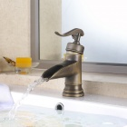 YDL-F-0501 Antique Brass Bathroom Hot / Cold Faucet - Bronze