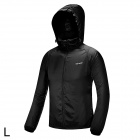 Free Soldier Outdoor Ultra-Slim Lightweight Men's Hoodie Jacket - Black (Size L)