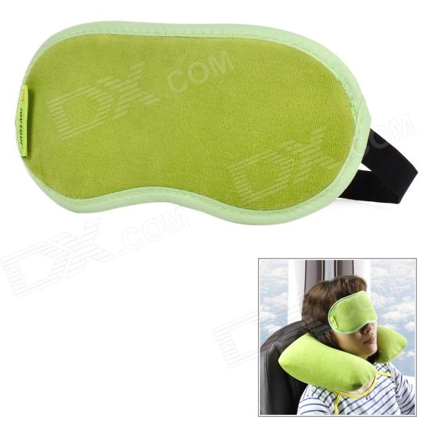 JOYTOUR JT2015 Travel Sleeping Velveteen Eyeshade - Black + Green