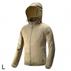 Free Soldier Outdoor Ultra-Slim Lightweight Men's Jacket - Khaki (Size L)