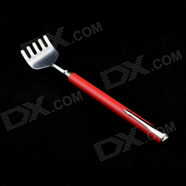 Pen type Stainless Steel Telescope Tickle Device - Red + Silver