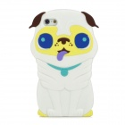 Cute 3D Dog Style Protective Silicone Back Case for Iphone 5 - White
