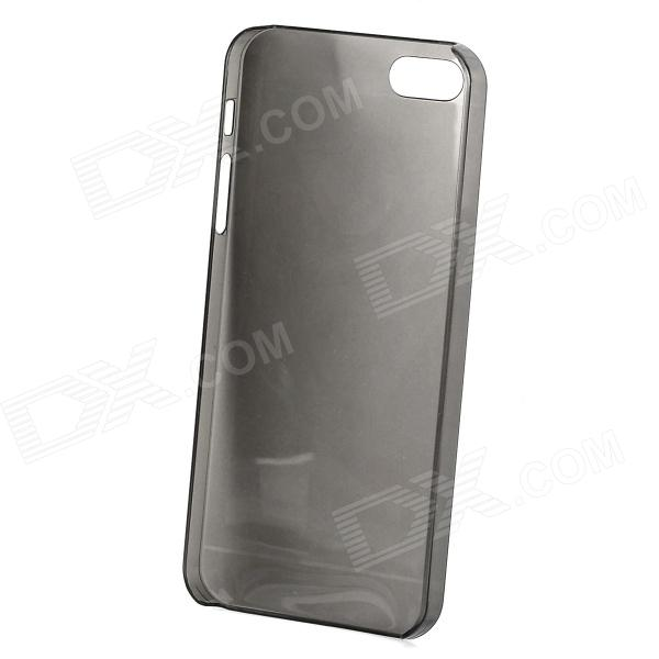 Simple Protective TPU Back Case for Iphone 5 - Black protective pc tpu back case for iphone 5 w anti dust cover black yellow