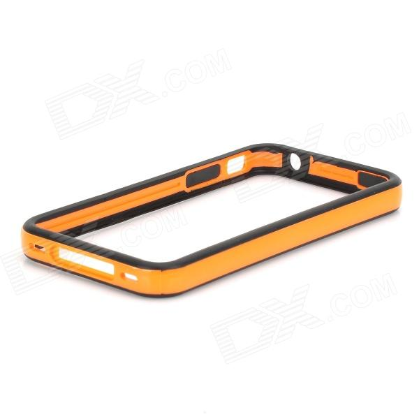Stylish Protective TPU Bumper Frame w/ Buttons for Iphone 4 / 4S - Orange + Black