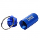 Free Soldier Outdoor Hanging Pill / Matches Bottle w/ Key Chain - Dark Blue