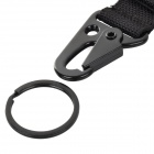 Free Soldier Outdoor Quick Release Belt Snap Hook Keychain - Black