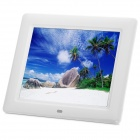 "801 8"" TFT Digital Photo Picture Frame Album w/ SD Slot / Built-in Speaker - White (16GB Max.)"