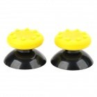 Replacement ThumbStick Joystick Cap for Xbox 360 Controller - Yellow + Black (2 PCS)