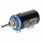 WXD3-13-2W 10Kohm Multi-turn Wirewound Precision Potentiometer - Black + Blue + Silver