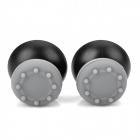 Replacement ThumbStick Joystick Cap for PS3 / PS2 Controller - Grey + Black (2 PCS)
