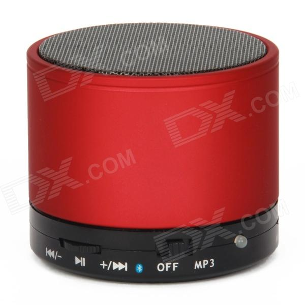 V3.0 S10 Bluetooth 2-Channel 3W Speaker w / Handsfree slot / TF - vermelho + preto
