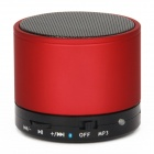 S10 Bluetooth V3.0 2-Channel 3W Speaker w/ Handsfree / TF Card Slot - Red + Black