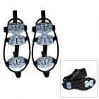 Outdoor 15-Teeth Ice Climbing / Mountaineering Shoes Crampons - Black + Silver (Size-L / Pair)