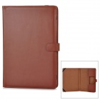 "Protective PU Leather Flip Open Case for Macbook Air 13"" Laptop - Brown"