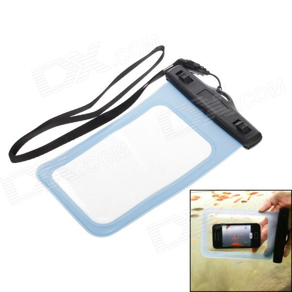 WP-06 Universal 6.5 inch Cellphone Waterproof Bag for Samsung Galaxy Mega 6.5 i9200 - Black + Blue