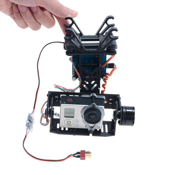 Brushless Gimbal Camera Mount with Motor & Controller & DC Regulator for Gopro3 FPV карта памяти 100% toshiba sd sdhc 10 uhs i 30mb s 32 16 8