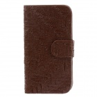 Universal Weave Style PU Leather Mobile Phone Leather Case - Deep Brown
