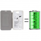 PU Leather Back Case Cover + 2400mAh Polymer Battery for Samsung Galaxy Note 2 N7100 - White