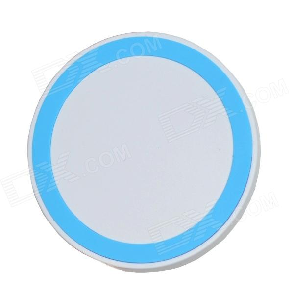 Mikasso T-200 Mini Universal QI Standard Wireless Charger - White + Blue universal qi wireless charger for cellphone black