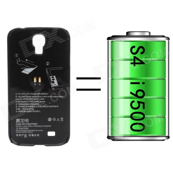 Back Case + 2400mAh Polymer Battery for Samsung Galaxy S4 i9500 - Black