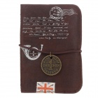 MH13-052 Reminiscence England PU Leather Card Case - Deep Brown (20 Sheets)