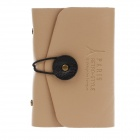 LGTT-1574 Fashionable PU Leather Card Case for Women - Khaki (20 Sheets)