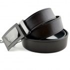 t.acttion 904142-3 Fashion Cow Split Leder Reversible Herren Gürtel w / Zinc Alloy Buckle-Black