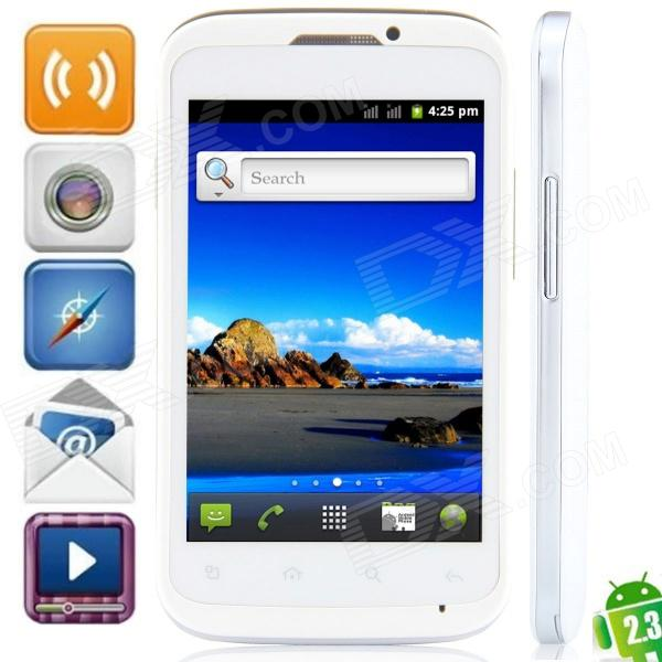 "MP991(sphs on hsdroid) Android 2.3.6 GSM Bar Phone w/ 4.0"", Quad-Band, FM and Wi-Fi - White"