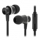 Resong Q5 Stylish Universal 3.5mm Jack Wired In-ear Bass Headset w/ Microphone - Black + Silver