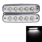 Carfu AC 2013 5W 150lm 6000K 5-LED White Light Car DC Tagfahrlicht (DC 12V / 2 PCS)