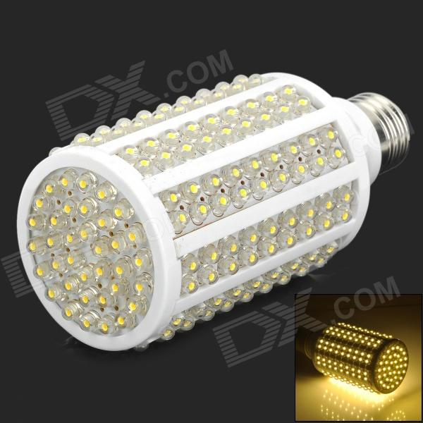 JD-216-CAOMAO-NBG-02 E27 12W 400lm 3500K 216-LED Warm White Light Lamp Bulb - White (AC 220V)