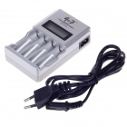 "GOOD GD-903 4 x AA / AAA 1.6"" LCD Screen Battery Charger - Silver + Black"
