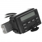 "Waterproof 2.0"" LCD Electronic Motorcycle MP3 Player w/ FM / Clock + Speakers - Black"