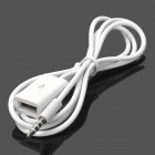 3.5mm Male to USB Female AUX Audio Cable - White