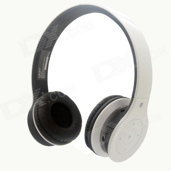 MINIX NT-1 Wireless Bluetooth V3.0 + EDR Stereo Headset w/ NFC / Mic / Multi-Link - Black + White magnetic earbuds wireless bluetooth headset support nfc pairing two devices at one time