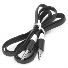 3.5mm Male to Male AUX Audio Cable - Black + White (95cm)