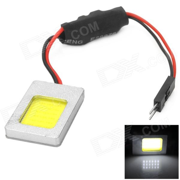 T10 / 30~40mm Spring Festoon 1W 18-COB LED White Light Car Roof / Reading Lamp (12~24V) t10 32mm 42mm festoon 3 6w 124lm epistar 36 cob led white car reading light dc 12 24v