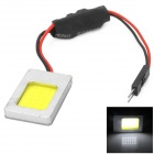 T10 / 30 ~ 40mm Frühling Girlande 1W 18-COB-LED White Light Car Dach / Leselampe (12 ~ 24V)