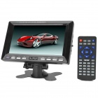 "7.0"" TFT LCD 16:9 PAL / NTSC Car / Home Monitor w/ AV / SD / USB + IR Remote Control - Black"
