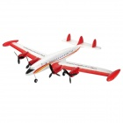 ZY-9001 Rechargeable 2.5-Channel R/C Airplane w/ Remote Controller - White + Red