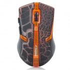 RF-6110 2.4GHz Wireless Gaming Optical Mouse - Orange + Dark Brown + Black