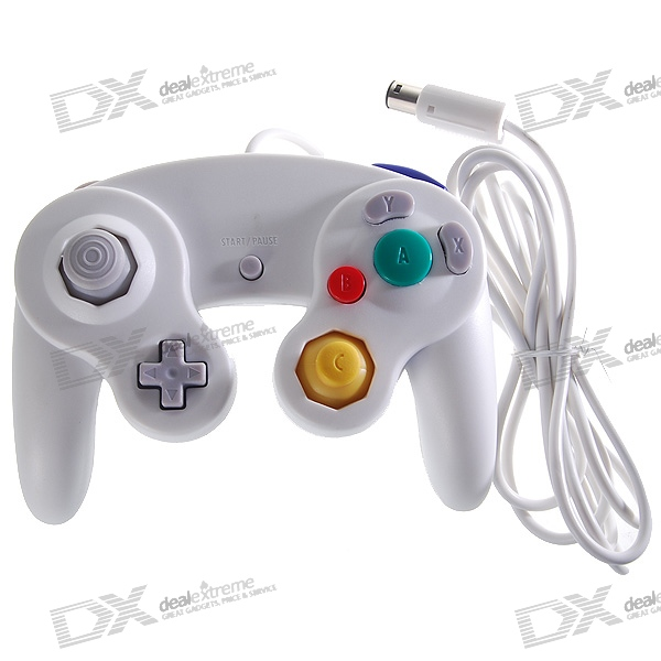 Wired Shock Game Controller for Nintendo GameCube NGC and Wii - White