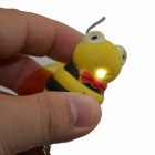 Bonito Luminous Bee Keychain w / Sound Effect - Amarelo + Preto (3 x AG10)