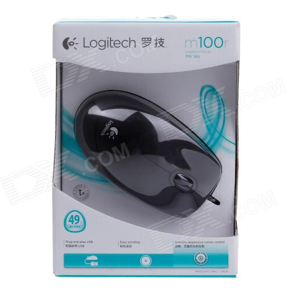 7c7ab6f3805 Logitech m100r USB 2.0 Wired 1000dpi Optical Mouse - Black (180cm-Cable)