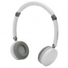 Qiyin BT-988 Stereo Wireless Bluetooth V3.0+EDR Headset w/ Mic - White + Deep Grey