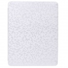 Honeycomb Texture Protective PU Leather Case Cover Stand for Ipad 2 / 3 / 4 - Silver